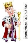 snooty looking cartoon king...   Shutterstock .eps vector #318716780