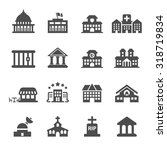 building icon set 9  vector... | Shutterstock .eps vector #318719834