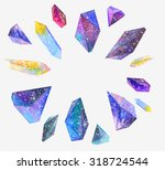 Watercolor Crystals With Star...