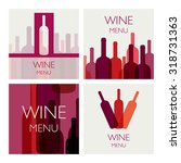 vector illustration of wine... | Shutterstock .eps vector #318731363