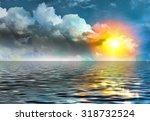 sunset over the sea | Shutterstock . vector #318732524