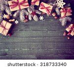 seasonal rustic christmas... | Shutterstock . vector #318733340