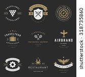 retro logotypes vector set.... | Shutterstock .eps vector #318735860