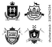 heraldic best choice black... | Shutterstock .eps vector #318744254
