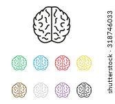 brain   vector icon | Shutterstock .eps vector #318746033