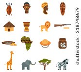 african natural world and... | Shutterstock .eps vector #318748679
