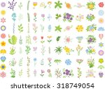 set of wedding graphic set ... | Shutterstock .eps vector #318749054