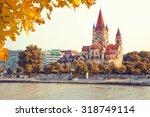 church heiliger franz of assisi ... | Shutterstock . vector #318749114