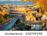 view on colosseum in rome  italy | Shutterstock . vector #318749198