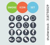 smoke icons for site   Shutterstock .eps vector #318750029