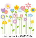 flower vector background | Shutterstock .eps vector #318750104