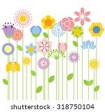 flower vector background | Shutterstock .eps vector #318750104