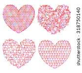 set of delicate multicolored... | Shutterstock .eps vector #318750140