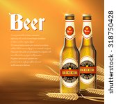 beer background with realistic... | Shutterstock .eps vector #318750428