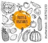 healthy food pictograms... | Shutterstock .eps vector #318752153