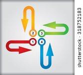 business concept   flow chart... | Shutterstock .eps vector #318752183