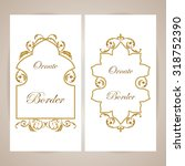vector decorative frame.... | Shutterstock .eps vector #318752390