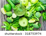 fresh green vegetables and... | Shutterstock . vector #318753974
