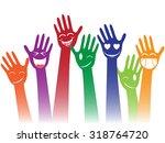happy smile hands   Shutterstock .eps vector #318764720