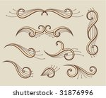 set of abstract scroll... | Shutterstock .eps vector #31876996