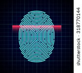 electronic fingerprint scan | Shutterstock .eps vector #318770144