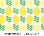 lemon background vector... | Shutterstock .eps vector #318770174