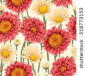floral seamless pattern with... | Shutterstock .eps vector #318773153