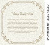 square vintage background with... | Shutterstock .eps vector #318773180
