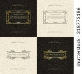 set of vintage backgrounds.... | Shutterstock .eps vector #318773186