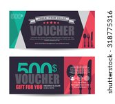 gift voucher template with... | Shutterstock .eps vector #318775316