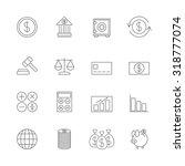 finance icons set | Shutterstock .eps vector #318777074