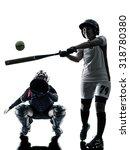 Women Playing Softball Players...