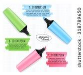marker highlight  infographic... | Shutterstock .eps vector #318789650
