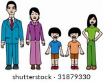 asian family | Shutterstock .eps vector #31879330