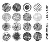 set of hand drawn circles.... | Shutterstock .eps vector #318795284