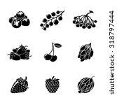 set of monochrome berries icons ... | Shutterstock .eps vector #318797444