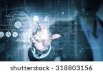portrait of businesswoman... | Shutterstock . vector #318803156