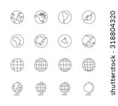 globe icons set | Shutterstock .eps vector #318804320