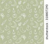 seamless vector pattern of... | Shutterstock .eps vector #318807290