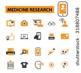 medicine research icons | Shutterstock .eps vector #318807488
