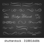 vintage elements and page... | Shutterstock .eps vector #318816686