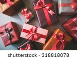 stylishly packaged boxes with... | Shutterstock . vector #318818078