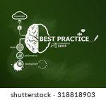 best practice concept and brain....   Shutterstock .eps vector #318818903