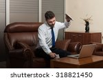 young business man with... | Shutterstock . vector #318821450