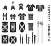 warriors series   roman army... | Shutterstock .eps vector #318832853