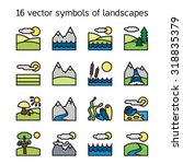 landscape icons collection.... | Shutterstock .eps vector #318835379