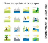landscape icons collection.... | Shutterstock .eps vector #318835400