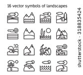 landscape icons collection.... | Shutterstock .eps vector #318835424