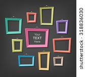 set of cartoon picture frames.... | Shutterstock .eps vector #318836030