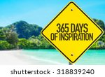 Small photo of 365 Days of Inspiration sign with beach background